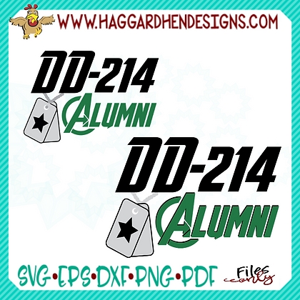 DD-214 Alumni SVG and Sublimation PNG
