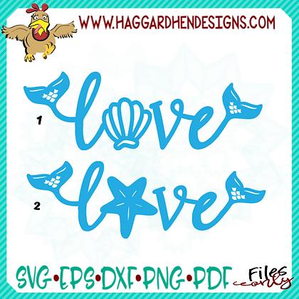 Love-Mermaid Theme SVG
