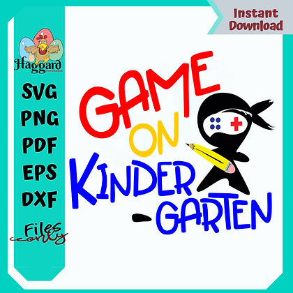 HHD GAME ON KINDERGARTEN SVG