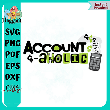 HHD Account-Aholic Svg