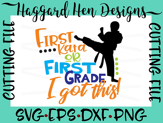 First Grade or First Kata SVG File