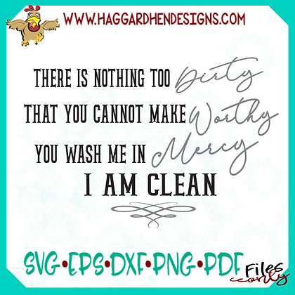I am Clean SVG