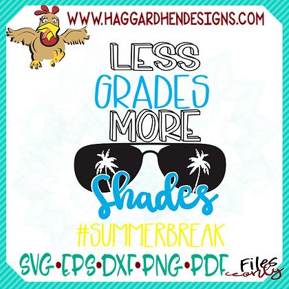 HHD Less Grades, More Shades SVG