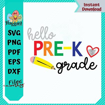HHD HELLO PRE-K SVG