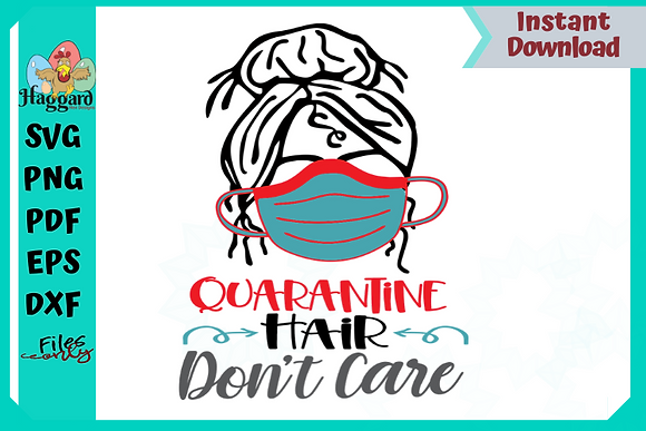 Quarantine Hair SVG