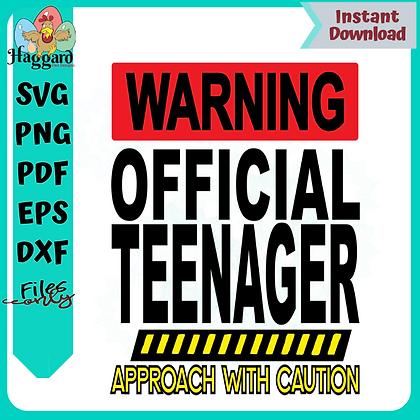 Warning Official Teenager SVG