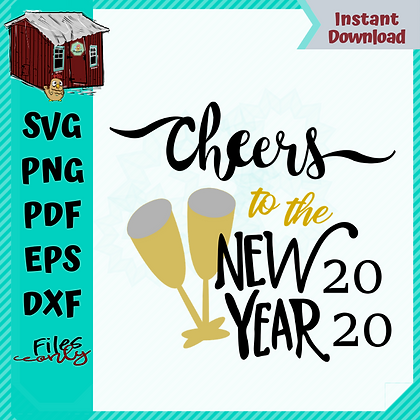 HHD Cheers to 2020 SVG