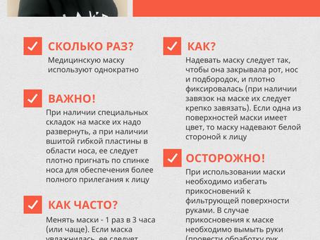 Правила использования медицинской маски