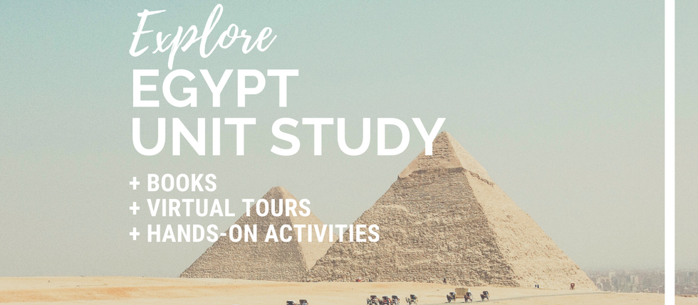 At-Home Adventures: Egypt Unit Study for Kids
