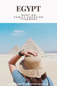 Egypt family vacation itinerary