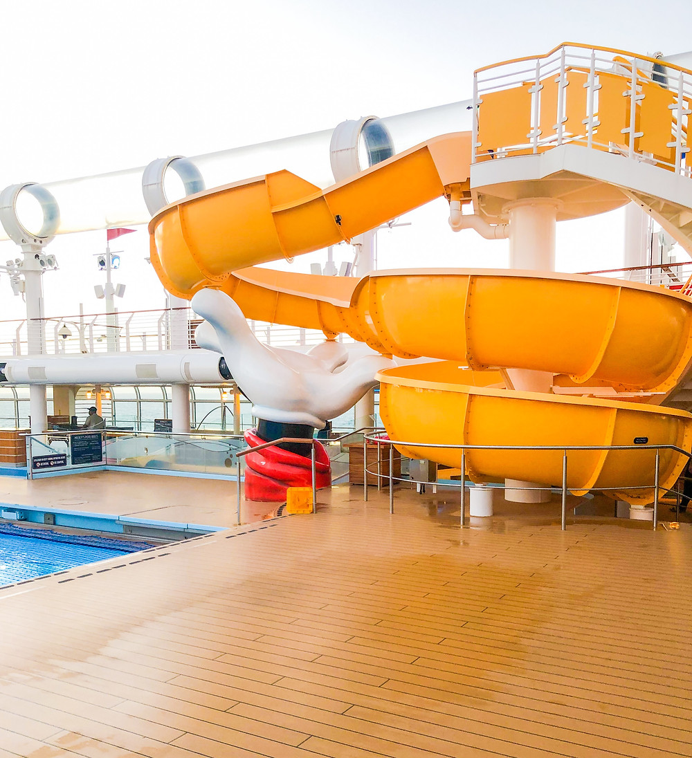 waterslides on a cruise