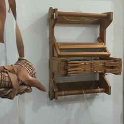 """Vintage 13"""" table loom"""