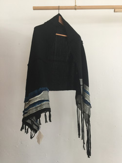 Indigo and Black Weave