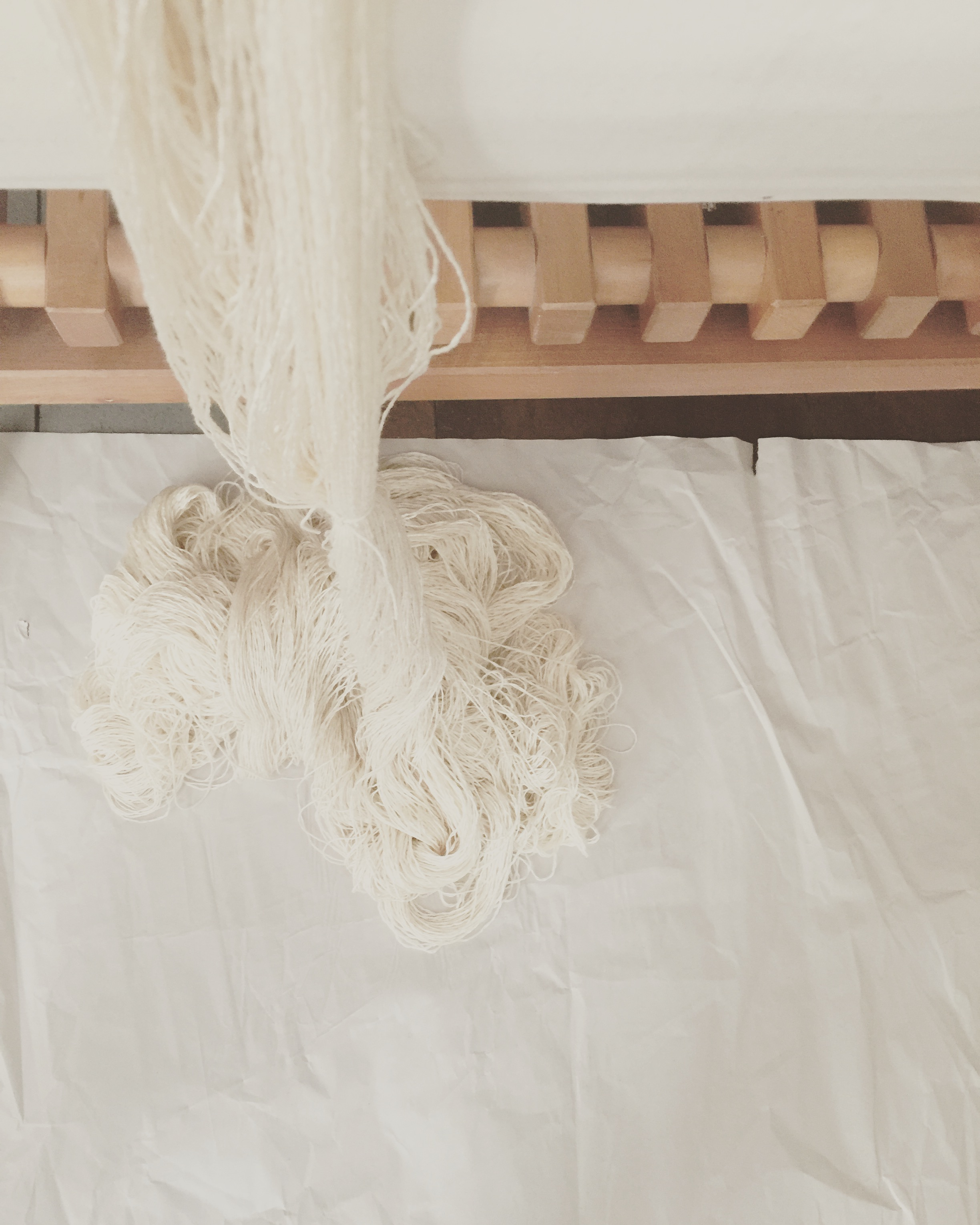 Wool and silk warp