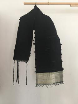 Black Textured Shawl