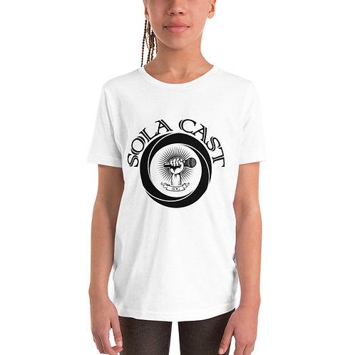 Sola Cast Logo (black) Youth Short Sleeve T-Shirt