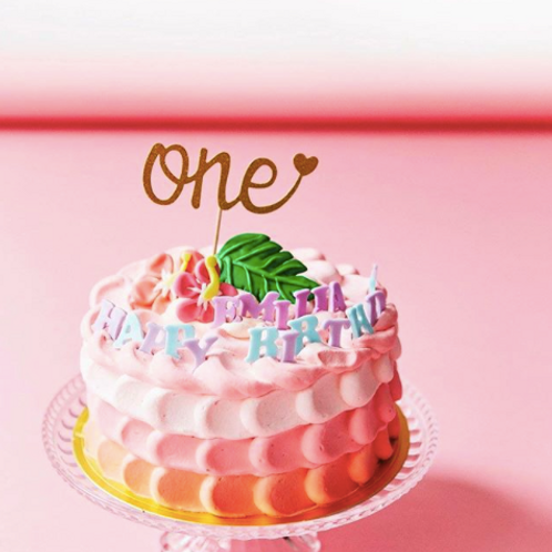 「one♡」 紙製ケーキトッパー