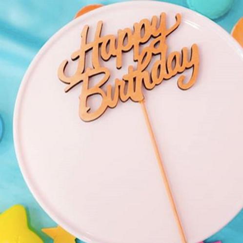 HAPPY BIRTHDAY 木製ケーキトッパー