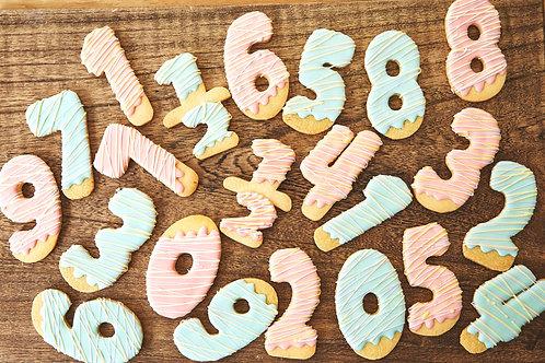「数字」クッキー<1文字>(クリックポスト送料無料)