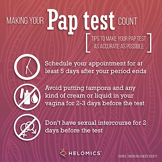 pap smear test tips for patients