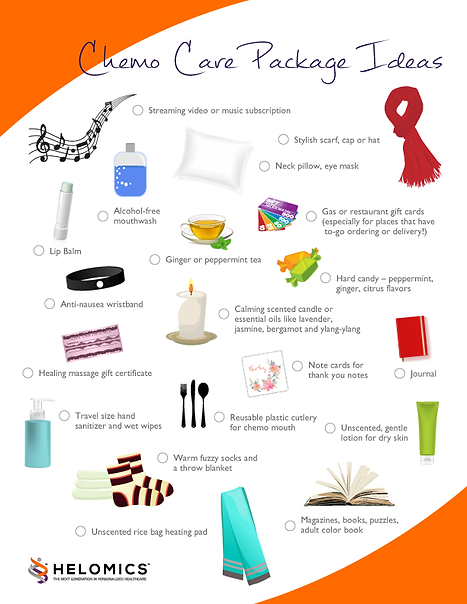 Care package for chemo patients tips
