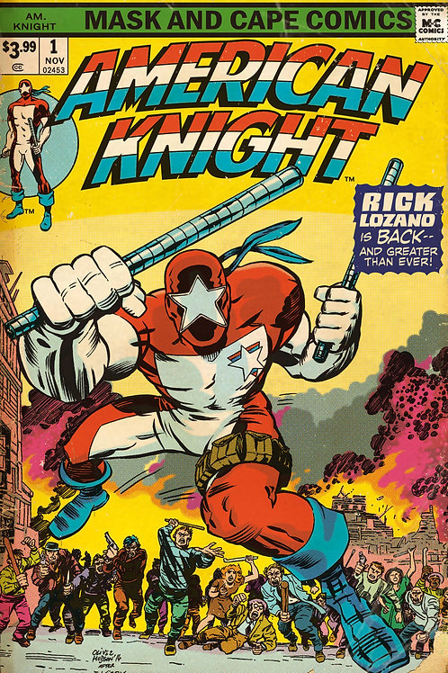 AMERICAN KNIGHT ISSUE #1 (RETRO KIRBY INSPIRED COVER)