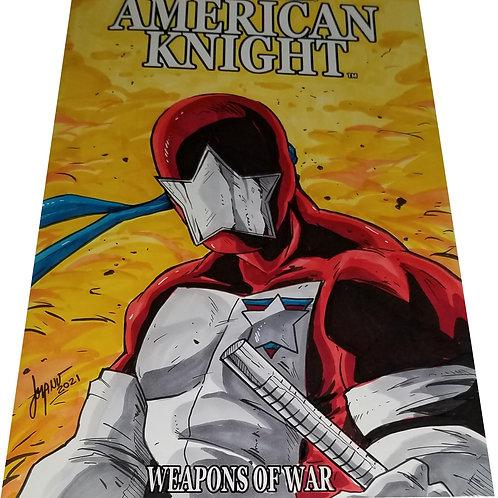 AMERICAN KNIGHT ISSUE #1 (ORIGINAL ART SKETCH COVER)