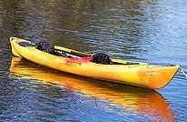 yellow double person kayak