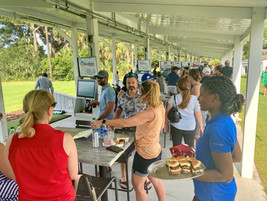 Toptracer Range event with catering