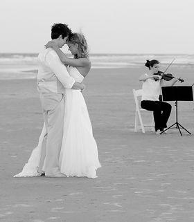 Wedding beach dance with music