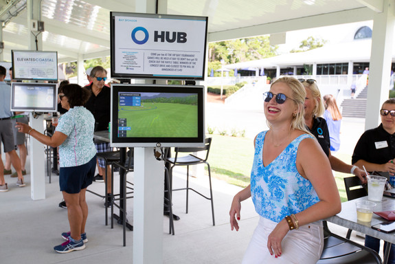 Toptracer Range event with custom screens