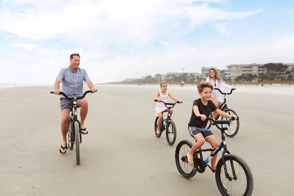 bike on palmetto dunes beach trail