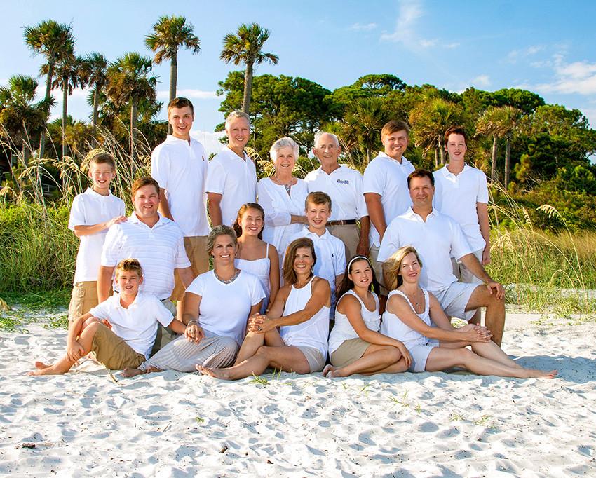 hilton head island beach family portrait