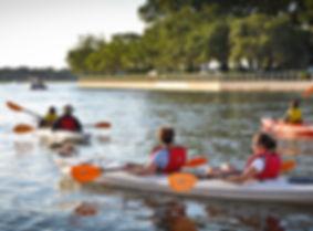 Kayakers at the Marina
