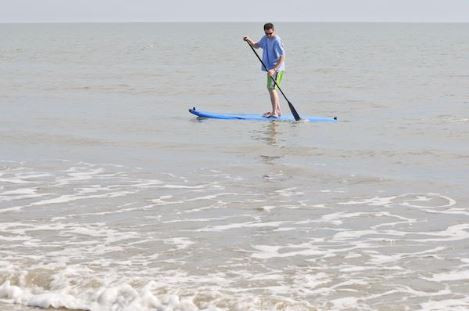 stand up paddleboarder at hilton head island