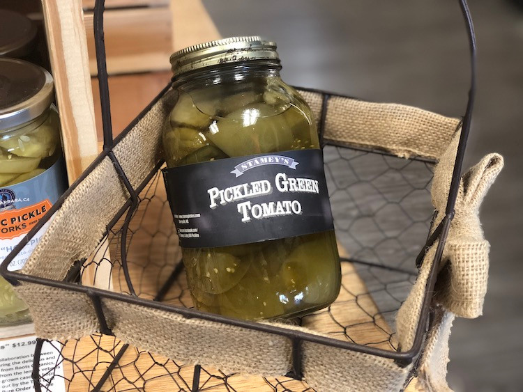 Jar of Pickled Green Tomato