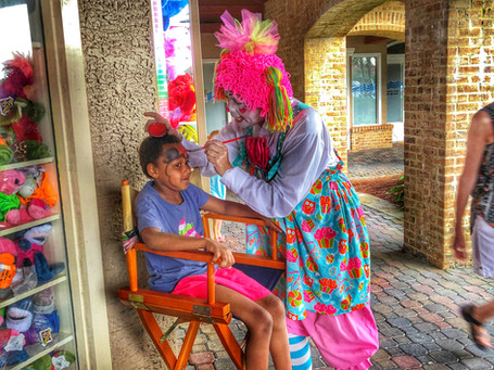 Face painting at Shelter Cove Harbourfest