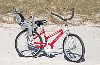 beach bike with child seat