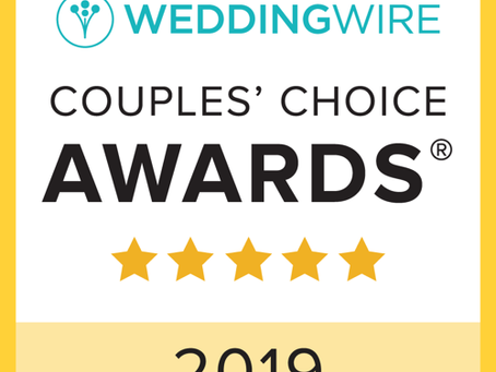 Thank YOU for Making us a 2019 WeddingWire Couples Choice Award Winner