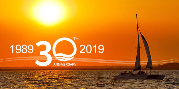 30th Anniversary Banner for Hilton Head Island Boat Tour Company