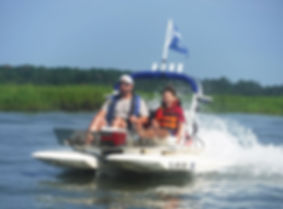 People in catboat