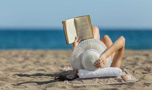 Woman reading on Hilton Head Island Beach
