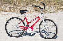26 inch red unisex bike