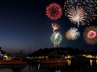 Fireworks Over A Harbour