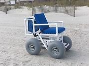 blue wheelchair beach rental