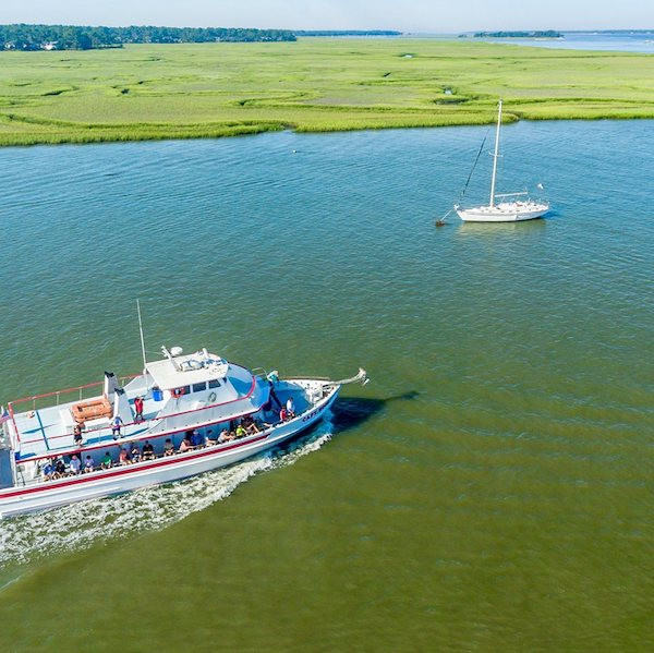Hilton Head Inshore Fishing Party Boat View From Above