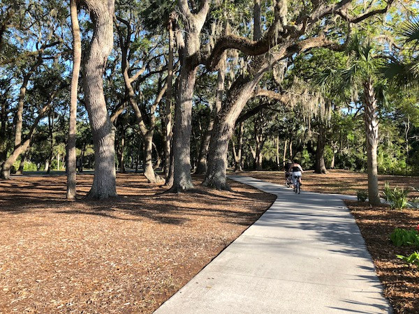 Bikers on Hilton Head Island Bike Path