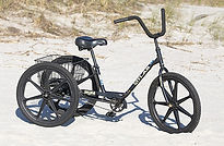 adult three wheel black bike