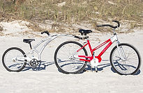beach bike with tag-a-long