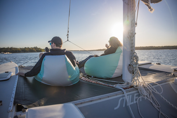 Couple on Sunset Sailing Charter in Hilton Head Island